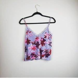 Express NWT floral lace Camo tank size small S